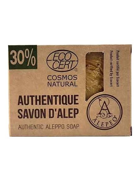Alepeo Savon d'Alep Traditionnel Certifié par Ecocert Green life 30%