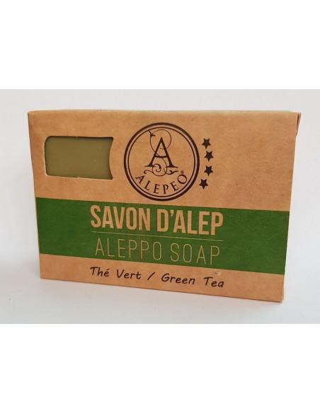 Savon d'Alep parfumé au thé vert